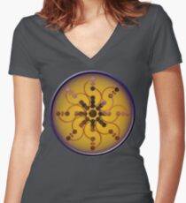 Crop circle Tidcombe - Wiltshire 2009 Women's Fitted V-Neck T-Shirt