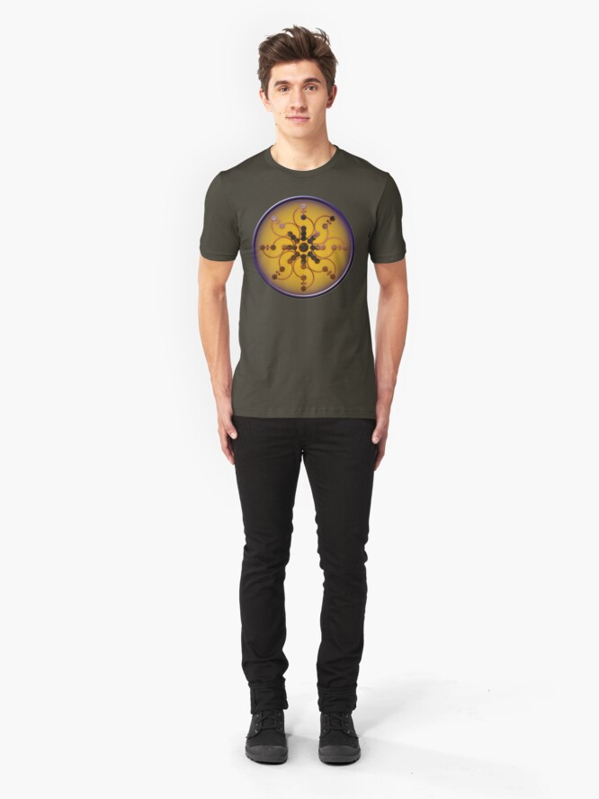 Alternate view of Crop circle Tidcombe - Wiltshire 2009 Slim Fit T-Shirt
