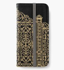 French Wrought Iron Gate | Louis XV Style | Black and Gold iPhone Wallet/Case/Skin