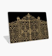 French Wrought Iron Gate | Louis XV Style | Black and Gold Laptop Skin