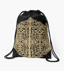 French Wrought Iron Gate | Louis XV Style | Black and Gold Drawstring Bag