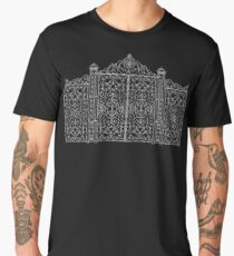 French Wrought Iron Gate | Louis XV Style | Black and Silvery Grey Men's Premium T-Shirt