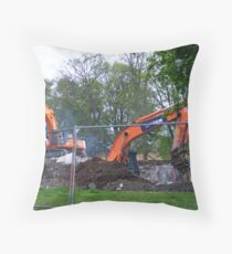 Multi coming down Throw Pillow