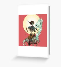 The Bone Ranger's Comin' Greeting Card