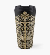 French Wrought Iron Gate | Louis XV Style | Black and Gold Travel Mug