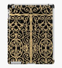 French Wrought Iron Gate | Louis XV Style | Black and Gold iPad Case/Skin