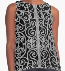 French Wrought Iron Gate | Louis XV Style | Black and Silvery Grey Contrast Tank