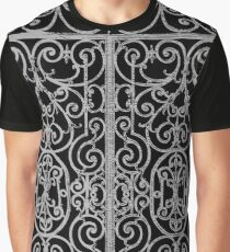 French Wrought Iron Gate | Louis XV Style | Black and Silvery Grey Graphic T-Shirt
