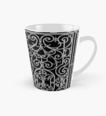 French Wrought Iron Gate | Louis XV Style | Black and Silvery Grey Tall Mug