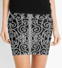French Wrought Iron Gate | Louis XV Style | Black and Silvery Grey Mini Skirt