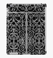 French Wrought Iron Gate | Louis XV Style | Black and Silvery Grey iPad Case/Skin