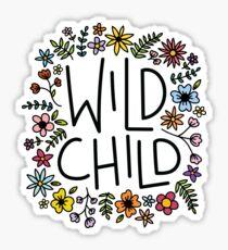 wild child flower design Sticker