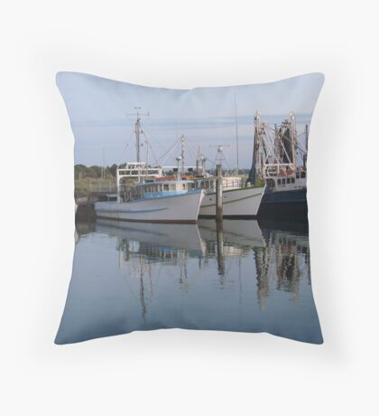 Calm Day at the Dock Throw Pillow