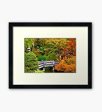 Autumn - Tranquility yields transcendence Framed Print