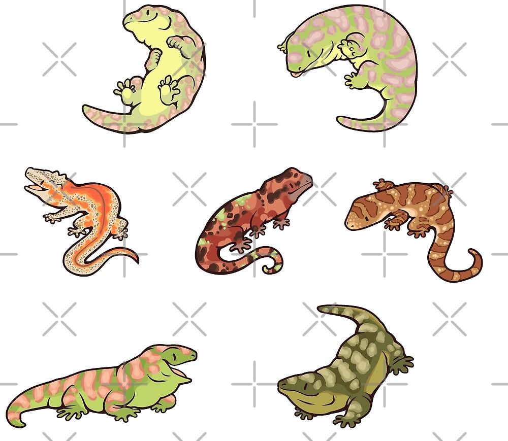 Gecko sticker batch the third von Colordrilos