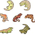 «Gecko sticker batch the third» de Colordrilos