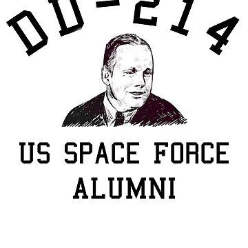 US Space Force Shirt DD214 Military Veteran Gift T-Shirt by thehadgaddad