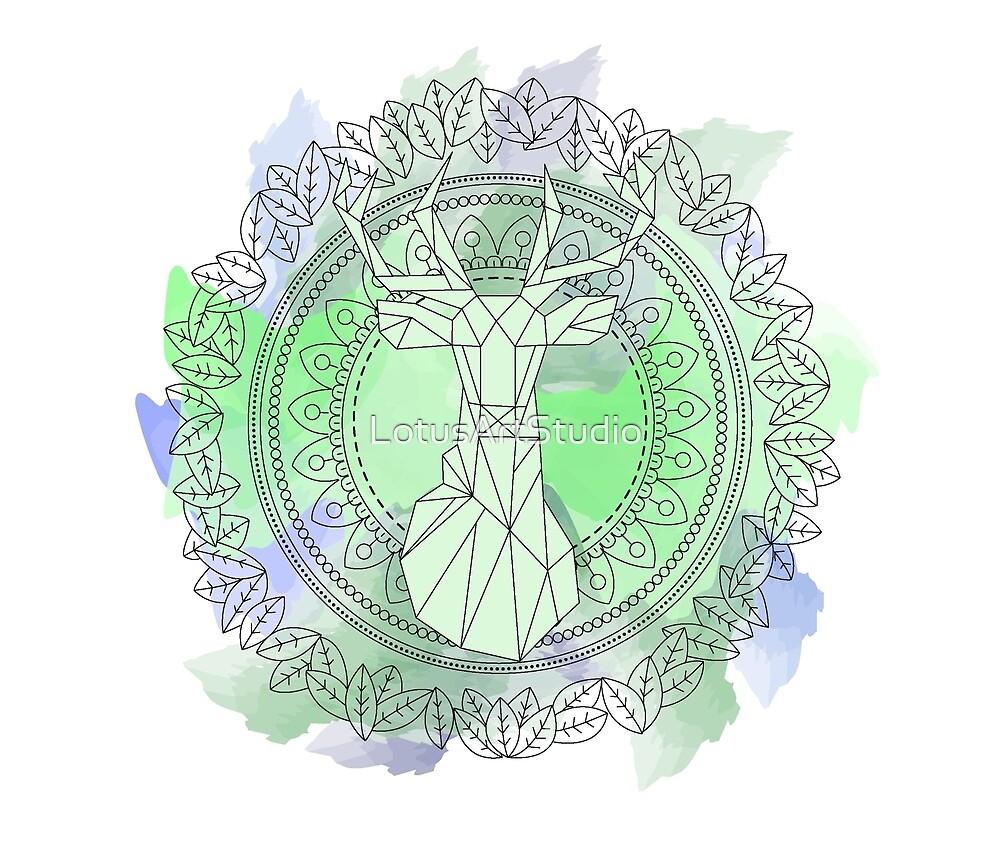 Deer mandala by LotusArtStudio