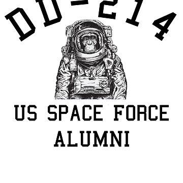 US Space Force Shirt DD214 Veteran Monkey Gift T-Shirt by thehadgaddad