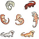 «Gecko sticker batch the fifth» de Colordrilos