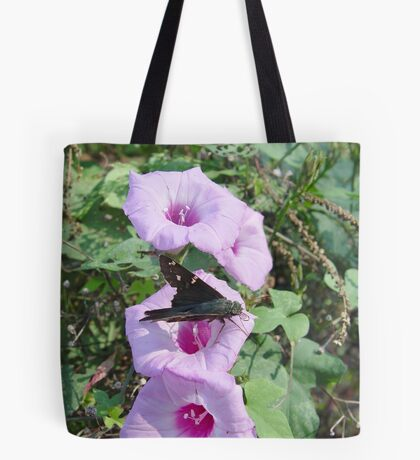Long-tailed Blue Skipper in Wild Morning Glory Tote Bag