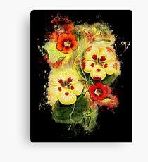 Nature flower glowing Art Canvas Print