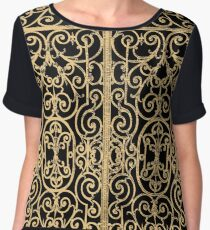 French Wrought Iron Gate | Louis XV Style | Black and Gold Chiffon Top