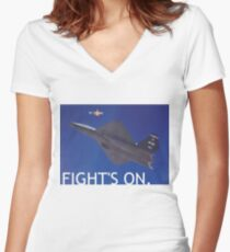 PHOTO103A Women's Fitted V-Neck T-Shirt