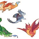«Dragons stickers» de Colordrilos
