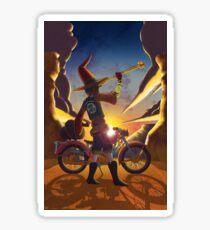 Wilco the Biker Wizard Sticker