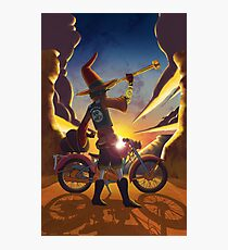 Wilco the Biker Wizard Photographic Print