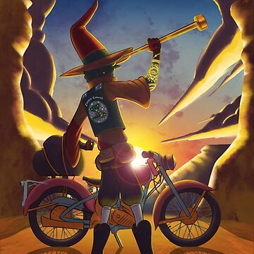 Wilco the Biker Wizard by kyle-sans-kyle