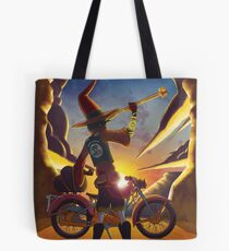 Wilco the Biker Wizard Tote Bag