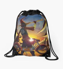 Wilco the Biker Wizard Drawstring Bag