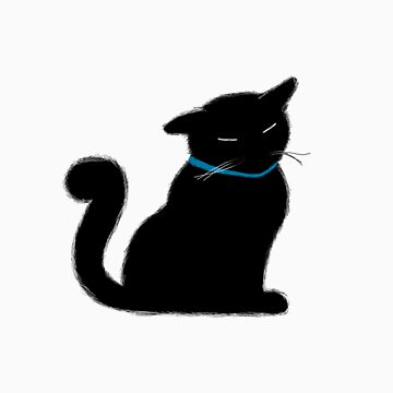 Black Cat with a Blue Ribbon by Oblivion