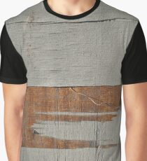 Gray Wood Grain Graphic T-Shirt