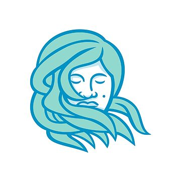 Polynesian Woman Flowing Hair Mascot by patrimonio