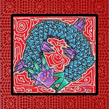 Chinese Dragon Ouroboros by luzmita14