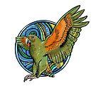 Kea- Alpine Parrot Native New Zealand bird by Rebecca Gibbs