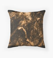 Study in Light and Shadow: Lush Foliage and Tangled Branches in Sepia #2 Throw Pillow