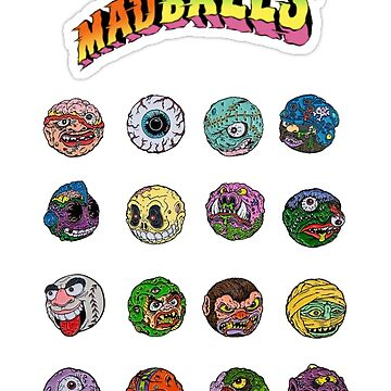 Madballs, Skull Face, Screamin Meemie, Oculus, Horn Head, Vintage, Retro, 80s, 90s, Original, Super, First Edition, Old Madball, Mad Balls, Merch by designteam