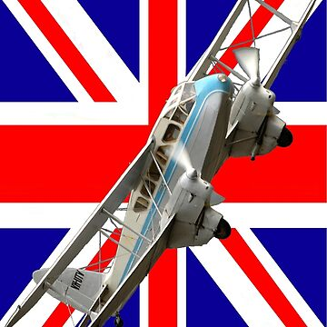 Plane & Simple - DH-89 VH-UTV + Union Jack Flag by muz2142