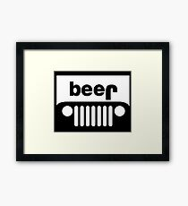 Jeep beer Framed Print
