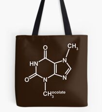 Theobromine Molecule - Chocolate Tote Bag