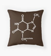 Theobromine Molecule - Chocolate Throw Pillow