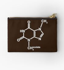 Theobromine Molecule - Chocolate Studio Pouch