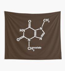 Theobromine Molecule - Chocolate Wall Tapestry