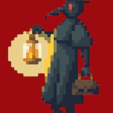8-bit Plague Doctor by unclestich