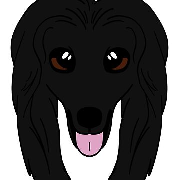Black Afghan Hound by sadsurplus