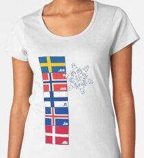 Nordic Cross Flags Women's Premium T-Shirt